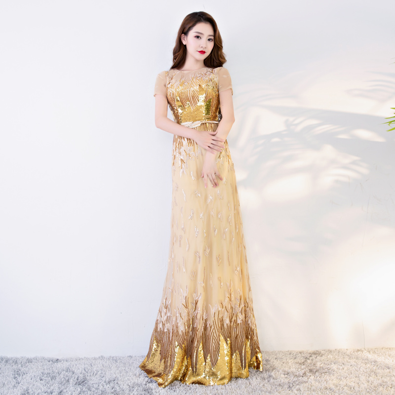 High School Students Prom Gowns Fashionable Champagne Evening