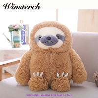 2016 New Arrived Simulation Sloth The Baby Doll Lifelike Sloth Plush Toys Stuffed Dolls Kids Lovely