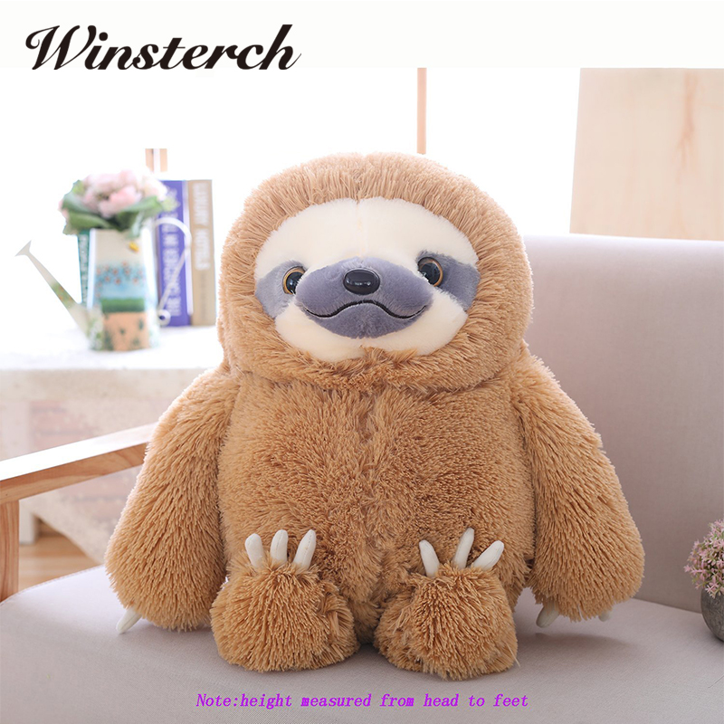 Simulation Sloth Baby Doll Lifelike Sloth Plush Toys Stuffed Dolls Kids Toys Lovely Doll Girlfriend Best Gifts Brinquedos WW36 simulation stuffed animals doll toy plush otter dolls kids toys christmas gifts snake ferret