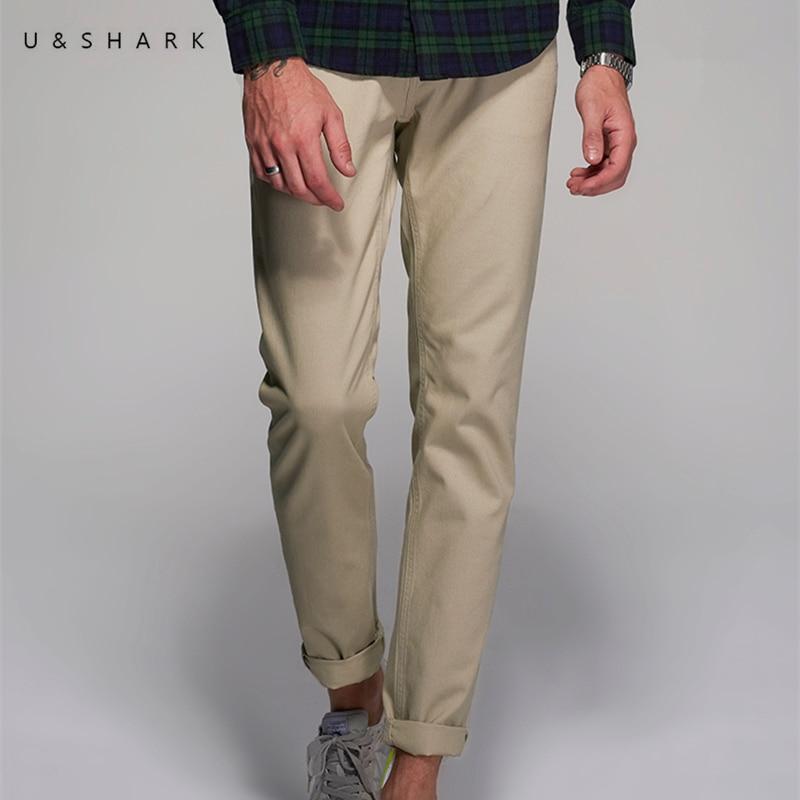 U & SHARK 2018 Spring Summer Casual Bukser Mænd Brand Tøj High - Herretøj - Foto 2