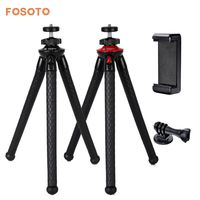 Fosoto Mini Flexible Tripod Stand Octopus Waterproof Tripods Phone Holder For Gopro IPhone X Smartphone DSLR