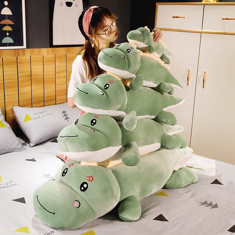 Hot Big Size Long Lovely Dinosaur Plush Toy Soft Cartoon Animal Dinosaur Stuffed Doll Boyfriend Pillow Kids Girl Birthday Gift