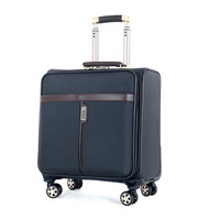 BOLO BRAVE High Quality PU Leather Trolley Case Men Business Boarding Women Letter Travel Luggage Bags