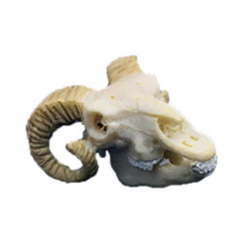 BUF resina artesanía pecera decoración estatuas de cráneo de cabra decoración creativa Bar escultura de cráneo Creative Fish Tank ornamentos
