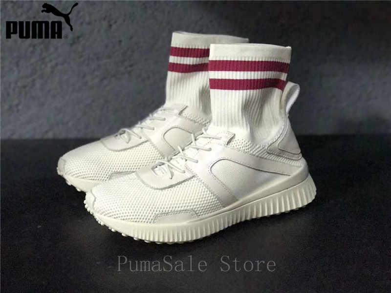 b614ab9a9cb4 Puma Fenty X Rihanna Trainer Hi Women Shoes Breathable Sock Shoes Wn s  Sport Shoes Knit Badminton