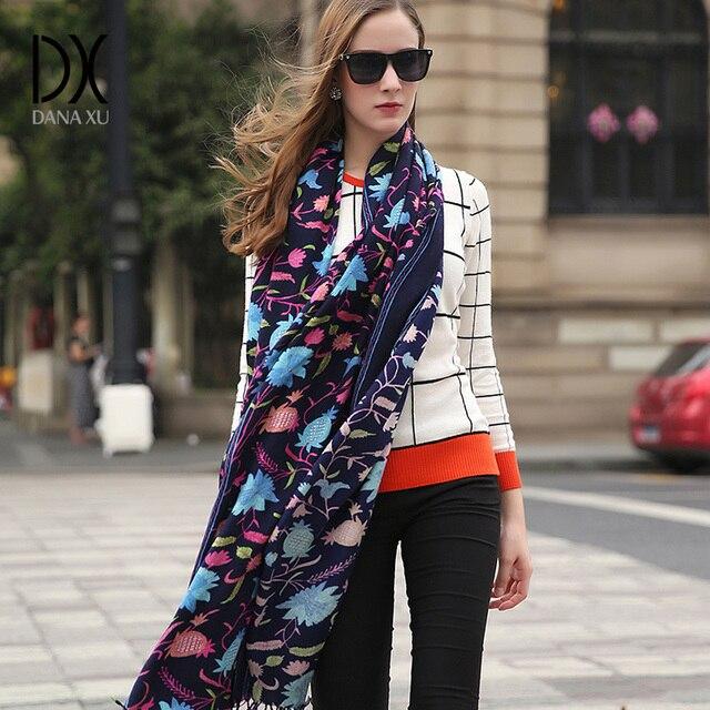 Wool Square Head Scarves Women Elegant Carf Warm Shawl Stoles Bandana Scarf Hijab Beach Blanket Face Shield Pashmina Cape Islam