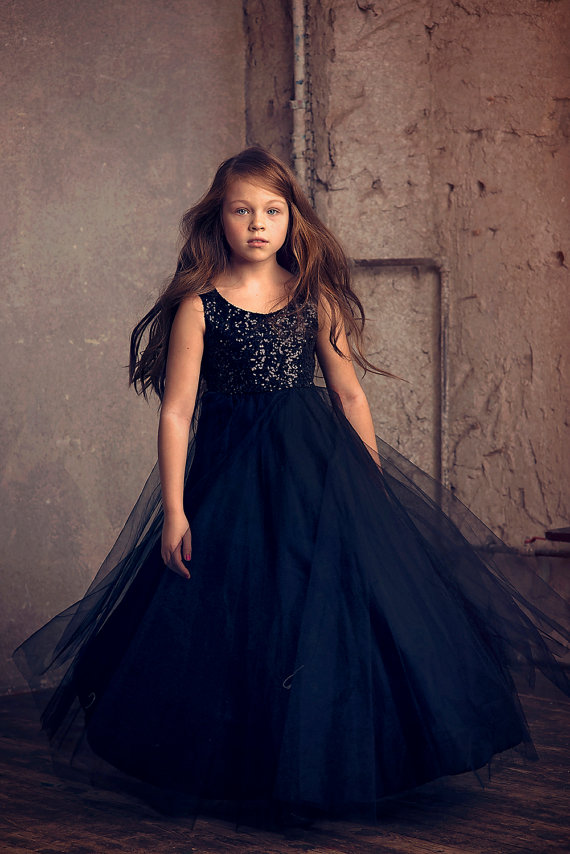 купить Sleeveless Pageant Dresses for Girls Tulle Flower Girl Dress for Weddings Sequined Girls Pageant Dresses Mother Daughter Dresses дешево
