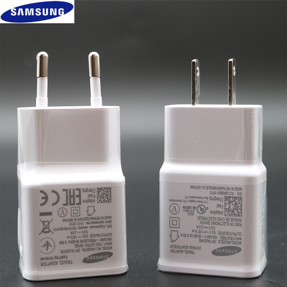 Original Fast Charger Travel Adapter EU US UK 9V1.67A&5V2A Quick Charger 3.0 Type-C For Samsung Galaxy S9 S9+ S8 S8 Plus note 8
