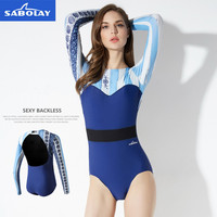 Surf Suit T Shirt For Swimming Surfing Suit Backless Sexy Swimwear Women One Piece Long Sleeve Rash Guard Surf Swimsuit