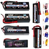 HRB 2S 7.4V Lipo Battery 3300mah 4200mah 6000mAh 7000mah 8000mah 35C RC Parts Deans T Hard Case For Traxxas 1/10 Scx10 Cars Boat