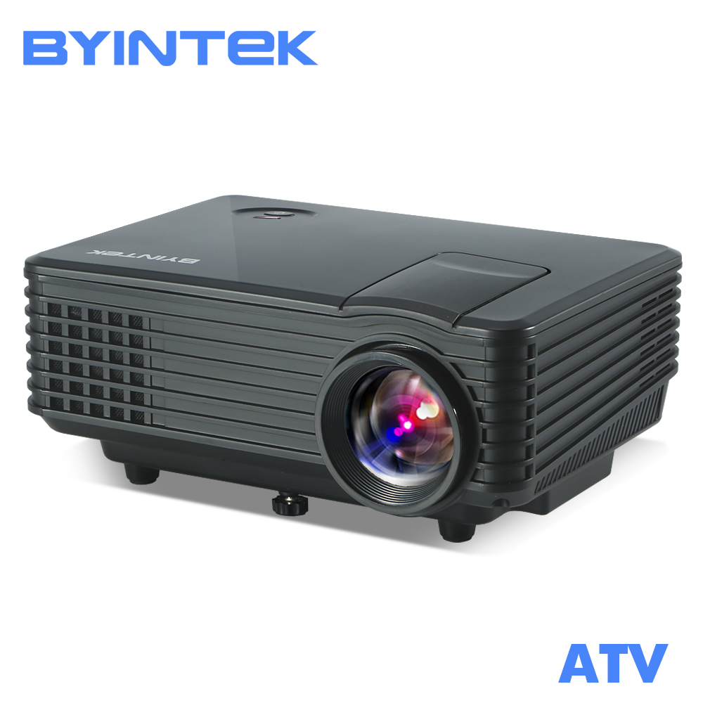 BYINTEK SKY BT905 Ev Sineması Mini LED Taşınabilir Video HD LCD Projektör Beamer Proyector ile HDMI USB TV Tuner Desteği 1080 P
