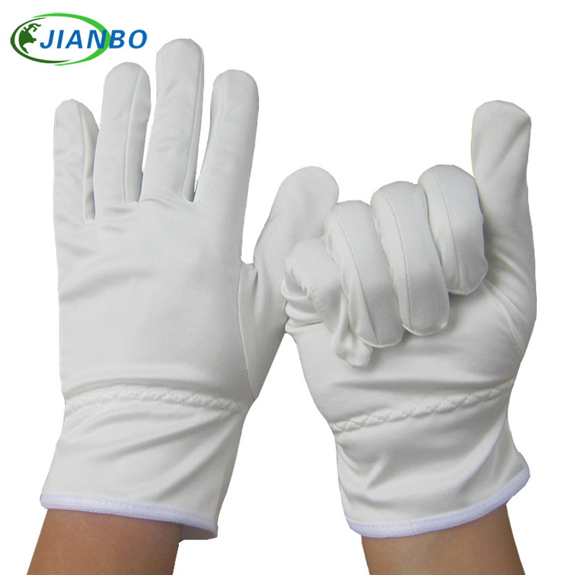 Free Shipping 2 Pairs Upscale White Anti-fingerprint Serving Command Drive Concierge Inspection Raise Flag Jewelry Work Gloves