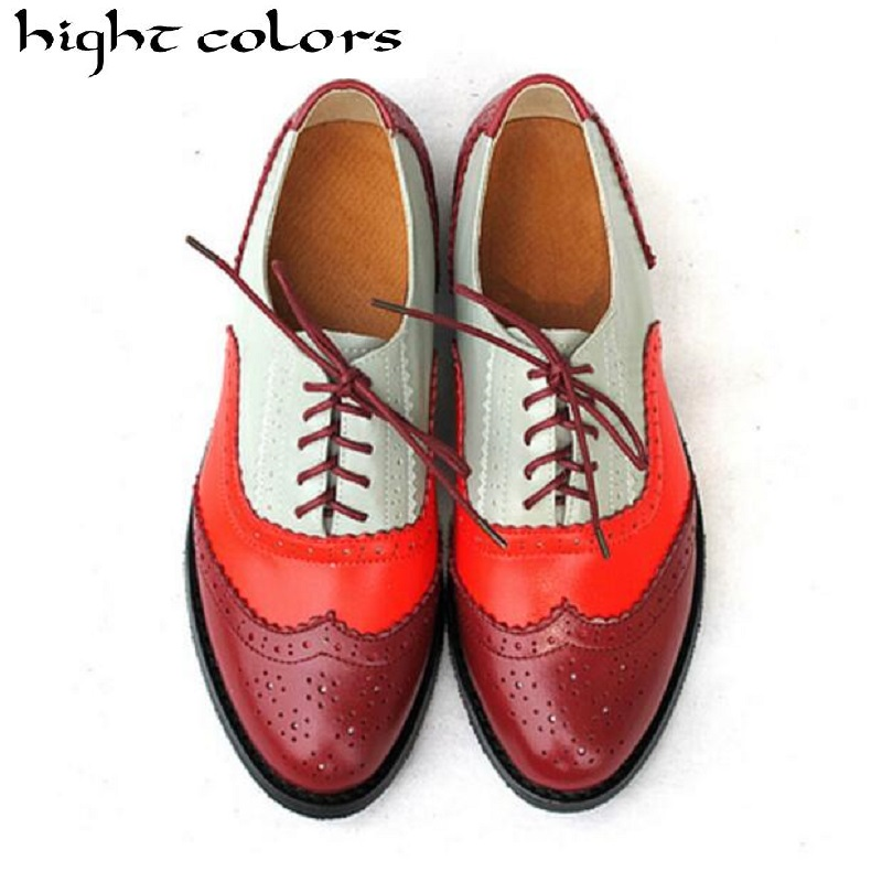 Hight Colors Brand Shoes 2018 Genuine Leather Big Woman Size 10.5 Vintage Flat Shoes Round Toe Handmade Oxford Shoes For Women 2017 new handmade genuine leather men shoes summer flat casual shoes original brand men oxford shoes 3 colors plus size 38 44