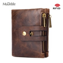 Muurdde Genuine Leather Men Wallets Small Men's Walet Hasp Zipper Male Portomonee Short Coin Purse Brand Perse Carteira For Rfid jinbaolai genuine leather men wallet small men walet zipper hasp male portomonee short coin purse brand purse carteira for rfid