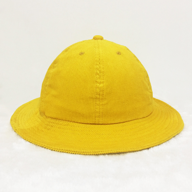 2017 bucket hat Men solid color folding bucket cap Corduroy yellow outdoor  hat women s hat fishing hats bone feminino solid a2c5bb4a917