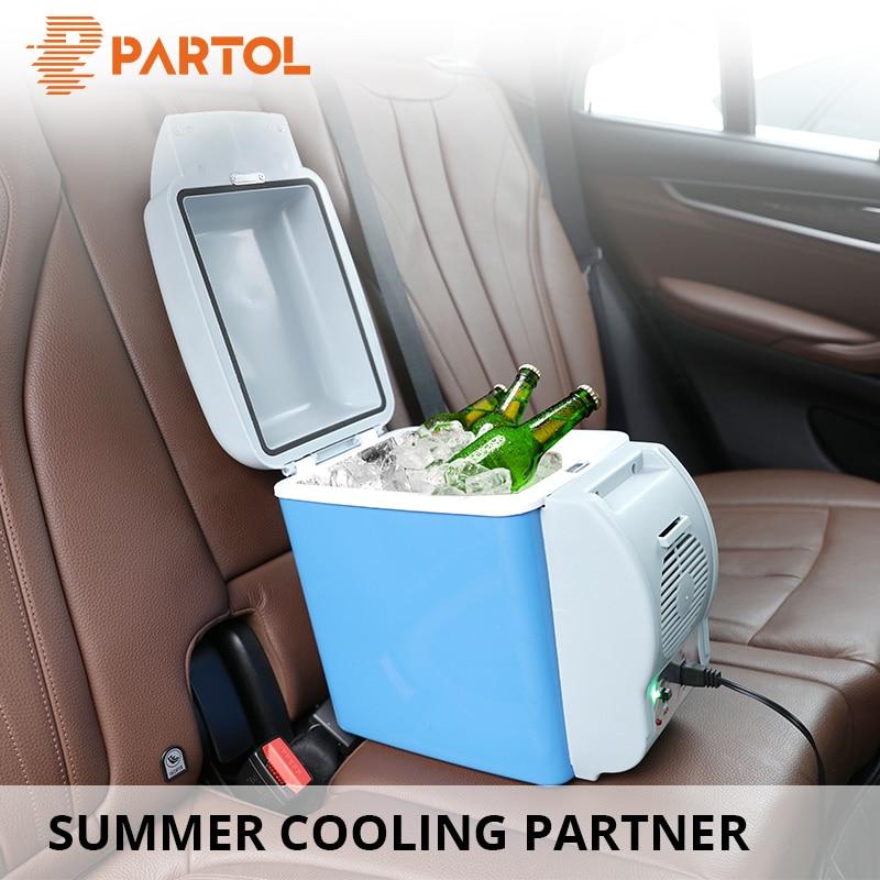 Partol Refrigerator Universal Auto Mini Fridge 7.5L 12V Car Multifunctional Portable Fridge Cooler Warmer Freezer Camping Travel цена 2017