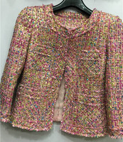 Ограниченная серия твидовая зимняя куртка потрясающая Женская куртка, уникальное зимнее пальто для женщин, плюс размер 5xl 6xl jaqueta feminina