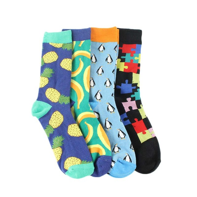 Cool Socks Calcetines Homme Divertidos Crew Happy Socks Funny Street Hip Hop Socks Men Harajuku Skateboard Chaussette Mens Meias