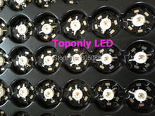 3w deep red color 660nm led beads lamp with 20mm pcb ideal source lighting for Aquariums /hydroponic greenhouse plants growing
