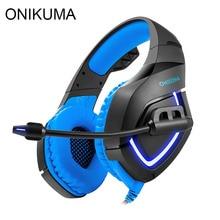 ONIKUMA K1 PS4 Juegos casque Estéreo Mejores Auriculares Para Juegos de Ordenador auriculares con Micrófono Led de Luz para el Nuevo Xbox One PC Gamer