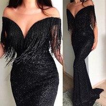MIARHB Sexy Deep V-neck Sleeveless Sequined Women Maxi Dress Floor Length a136ff988e0a