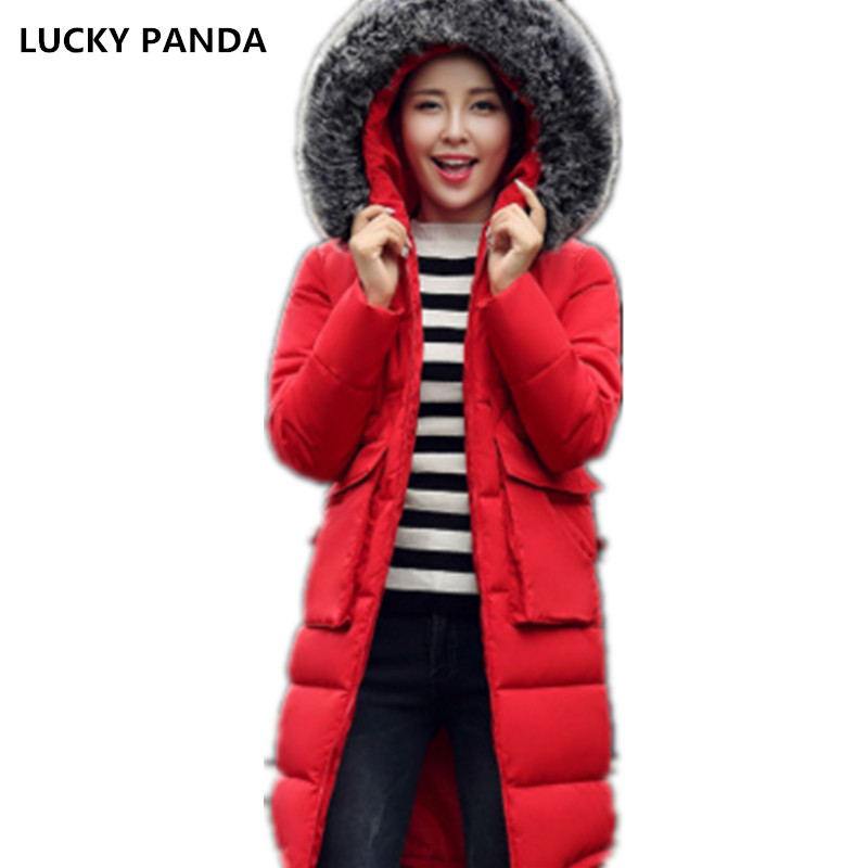Lucky Panda 2016 new long section of thick slim slim winter cotton padded coat LKP231 эхолот lucky ffw718li