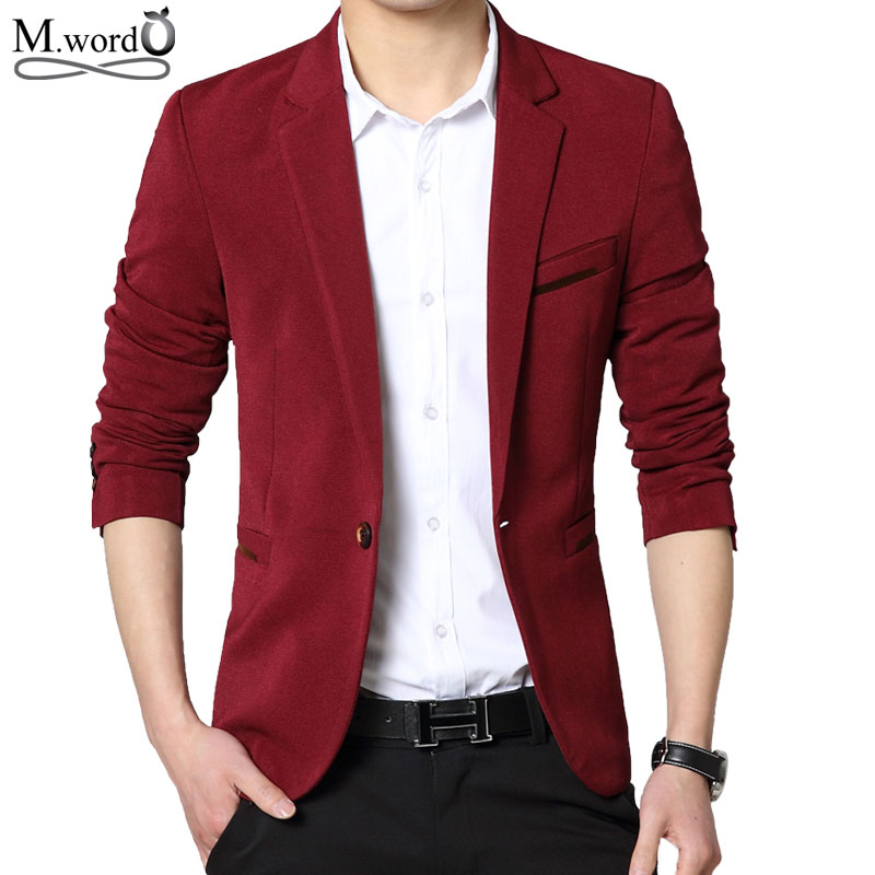 mwxsd brand spring mens blazer slim fit casual men blazer