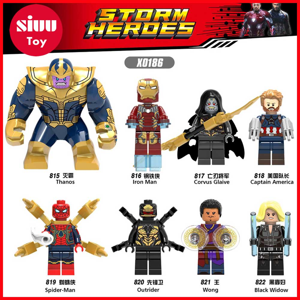 NEW Avengers 3 Infinity War Mini Brick Figures Compatible with LegoINGly Doctor Strange Time Gem Spider-Man Building Blocks zk30
