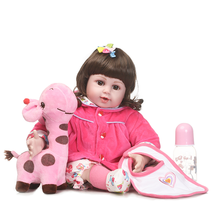 55cm Silicone Reborn Baby Doll Toys 22 Newborn Girls Brinquedos Birthday Gift Vinyl Princess Dolls Toy With Luxury Accessories