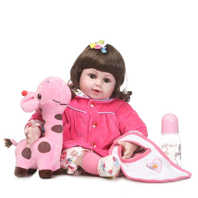 55cm Silicone Reborn Baby Doll Toys 22 Newborn Girls Brinquedos Birthday Gift Vinyl Princess Dolls Toy With Luxury Accessories