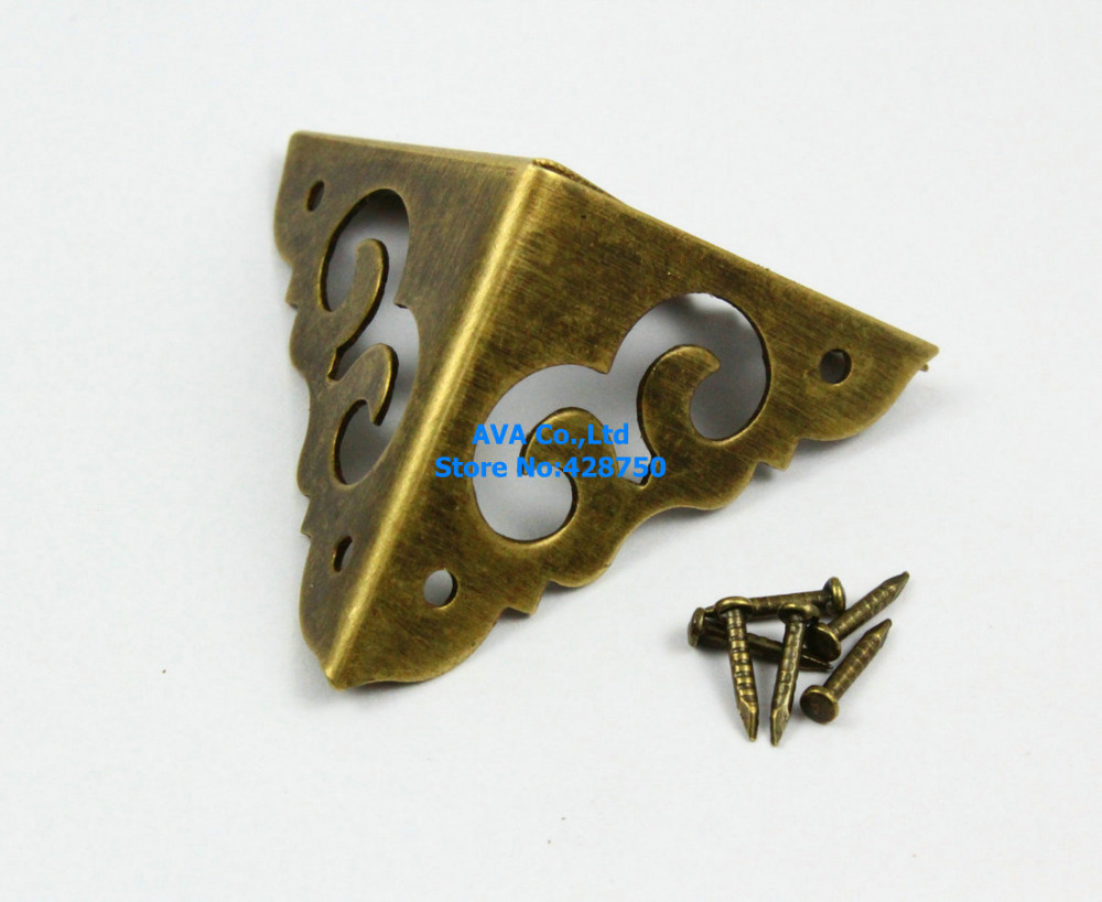 8 Pieces 30mm Antique Brass Jewelry Box Corner Gift Box Corner