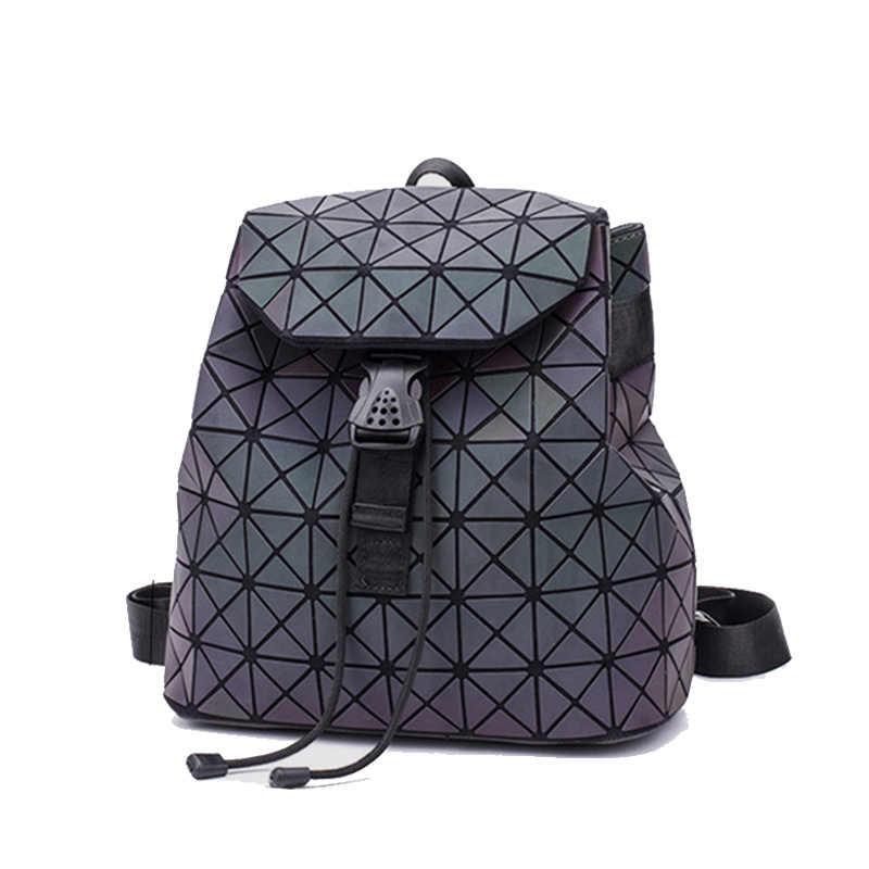 e471bca37486 ... Женский рюкзак с ромбовидной решеткой, Геометрическая стеганая школьная  сумка, рюкзаки для девочек-подростков ...