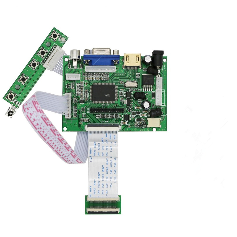 US $13 88 |for AT070TN90 92 94 Support VGA HDMI 2AV VS TY2662 V1 LVDS TTL  50PIN Controller board-in Industrial Computer & Accessories from Computer &