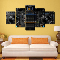 Sound Music Vinyl DJ Player Canvas Printed Oil Painting Poster Picture for Home Office Wall Decoration