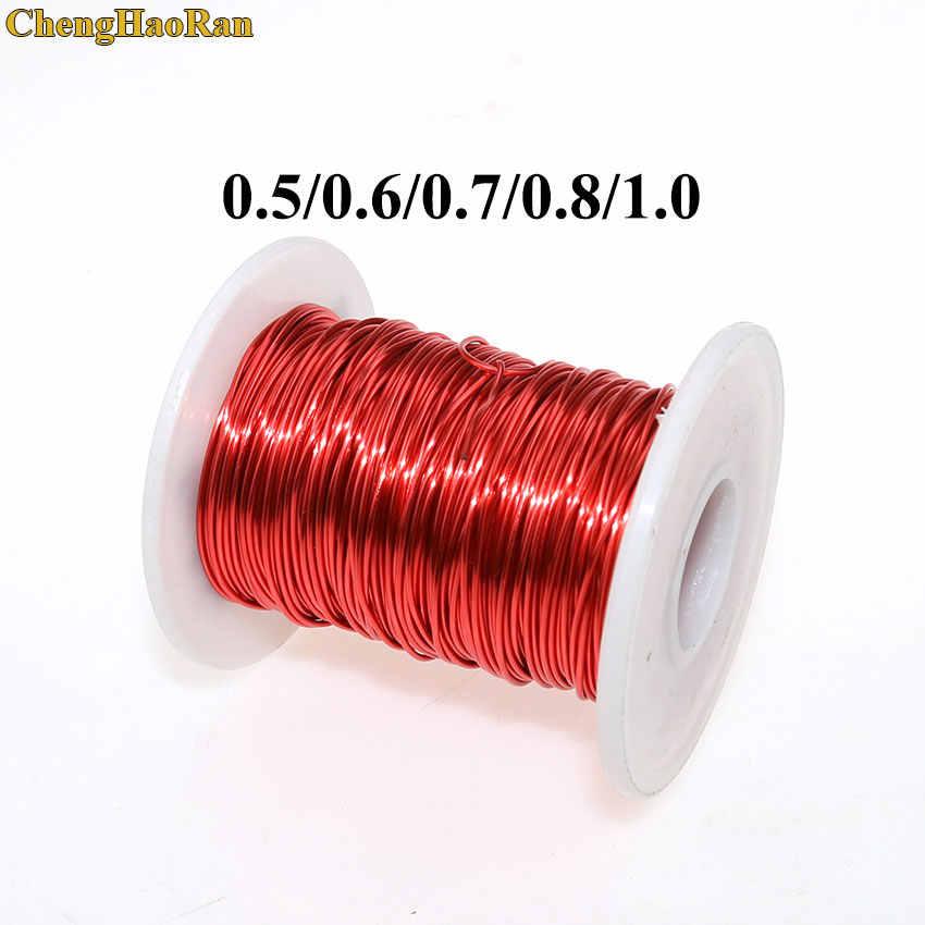 ChengHaoRan 0.5mm 0.6mm 0.7mm 0.8mm 1.0mm QA-1-155 rouge polyuréthane émaillé fil de cuivre émaillé rond enroulement fil QA-1-130