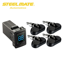 Steelmate TP-73 Automotive TPMS Tire Strain Monitor System Four Inside Sensors with OE-FIT LED Show for Toyota