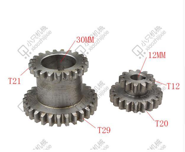 Livraison gratuite 2 pièces/ensemble dents T29xT21 T20xT12 double Dears métal tour engrenages à vendre