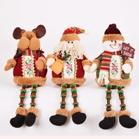 Hot Sale High Quality 30X13cm Santa Claus Snow Man Reindeer Doll Christmas Decoration Xmas Tree Hanging
