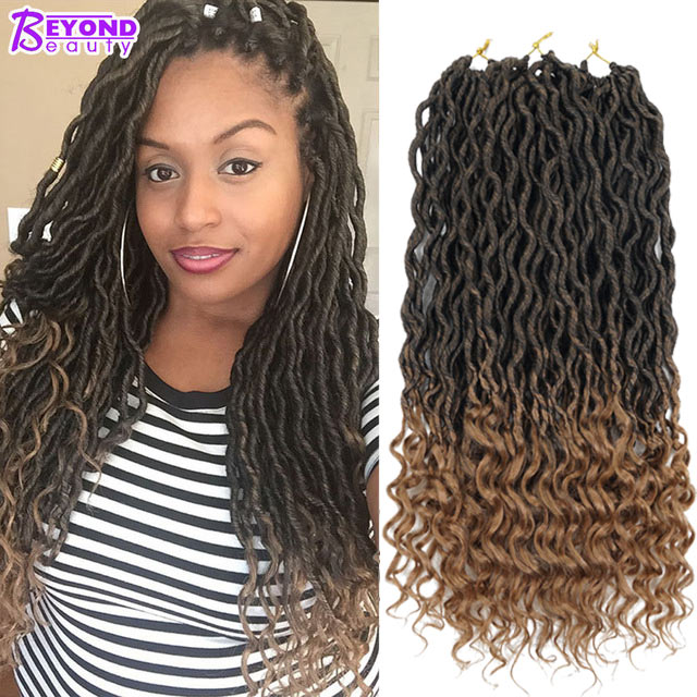 Crochet Goddess Locs Hair Extensions Faux Locs Curly