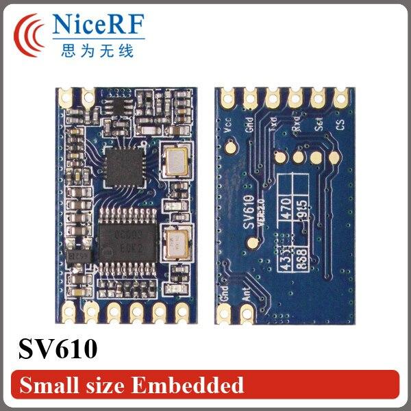 10 шт. SV610 100 МВт 1400 м междугородной TTL Интерфейс 868 МГц РФ Модуль Бесплатная Доставка