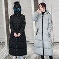 2016 de moda Más Tamaño de Las Mujeres de invierno Mujer Chaqueta de algodón acolchado Delgado largo Abajo Capa Hoodies de Las Mujeres Parkas de algodón Gafas sombrero chaqueta