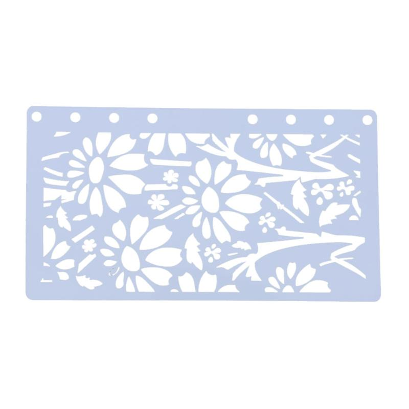 Flower Style Stencils For DIY Scrapbooking Plastic Hollow Ruler Student A6 Page Template DIY Photo Album Drawing Painting Tools