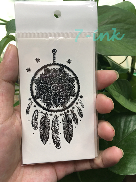 981f946ca Waterproof Temporary Tattoo lace Mandala dreamcatcher tattoo Water Transfer  fake tattoo for man women gril 10.5*6cm-in Temporary Tattoos from Beauty ...