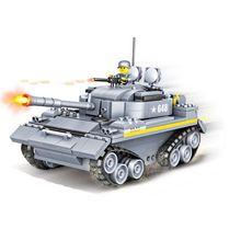 Militar serie aleman tanque Tigre soldado del ejercito, figuras de accion bloques construccion juguete para ninos regal