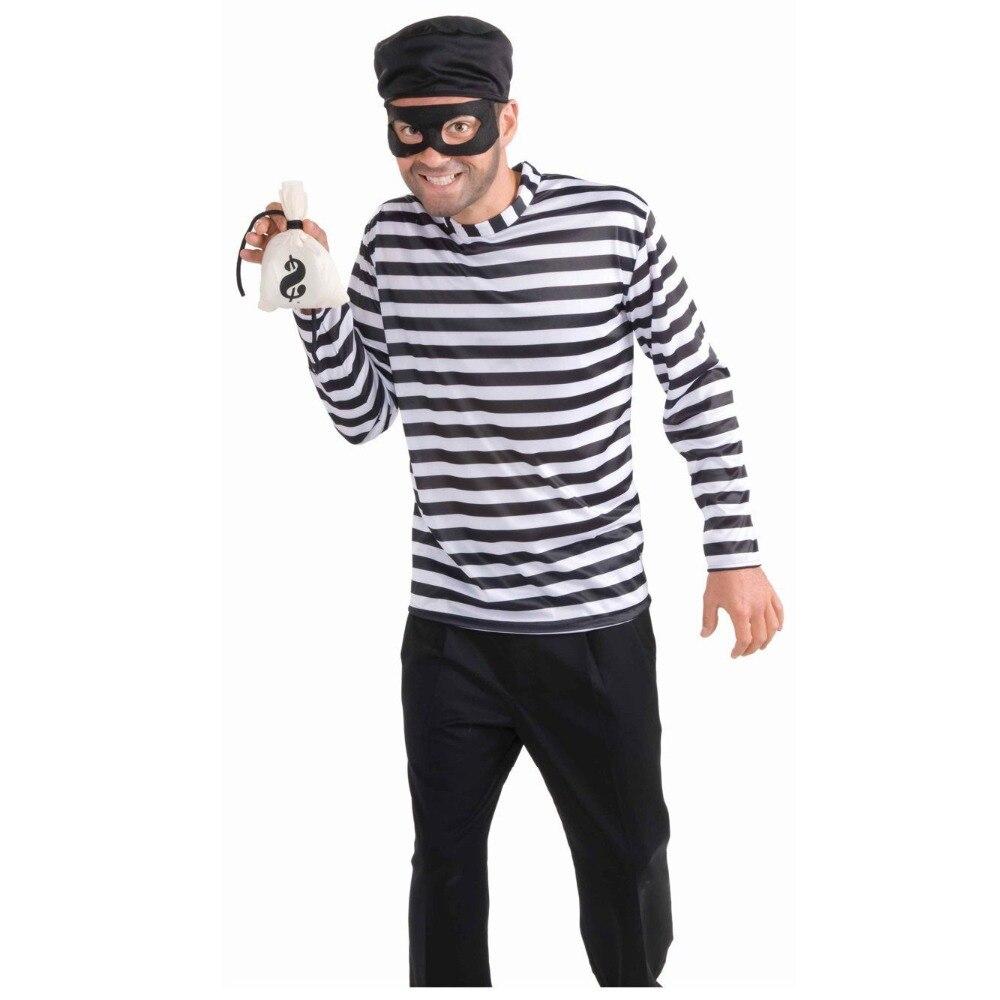 2018 New Game Thief Cosplay costume Halloween lover Masquerade Fancy Dress women&men Convict Zombie Prisoner Costume