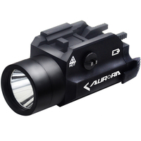 狩猟光学led懐中電灯拳銃ライフルピストル4照明モードはストロボ20ミリメートルクイックリリースレールマウントアクセサリ