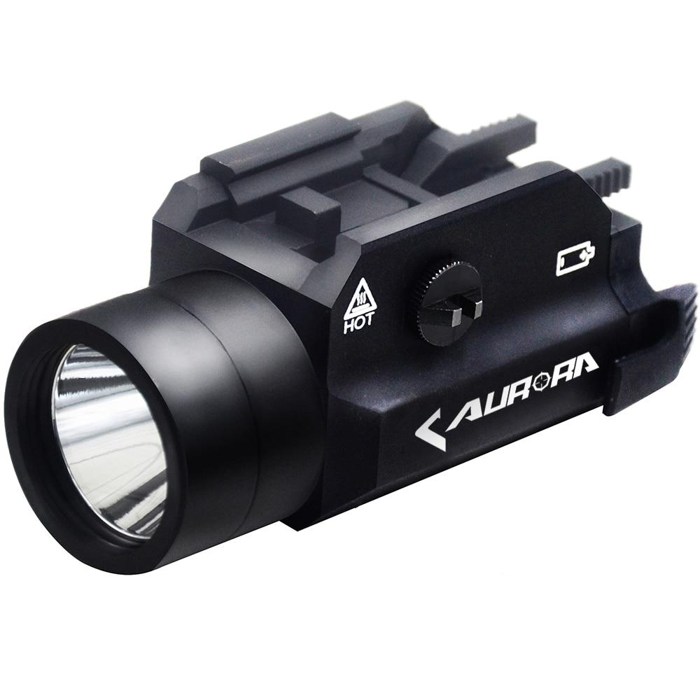 Hunting Optical LED Flashlight Handgun Rifle Pistol 4 lighting Modes Include Strobe 20mm Quick Release Rail Mount Accessories