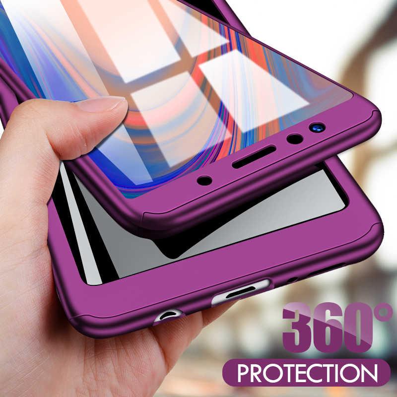 ZNP 360 กรณีโทรศัพท์กันกระแทกสำหรับ Samsung Galaxy A3 A5 2017 A7 2018 A8 Plus สำหรับ Samsung j4 J6 Plus + แก้ว