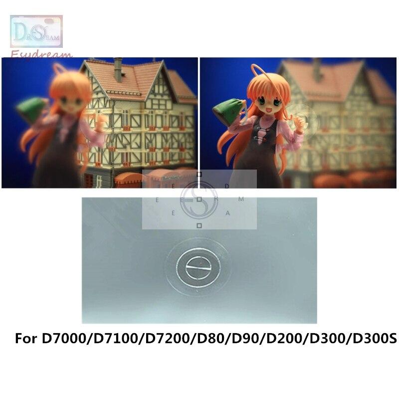 Один 180 градусов Разделение изображения фокусировка Экран для Nikon D7000 D7100 D7200 D80 D90 D200 D300 D300S PR152
