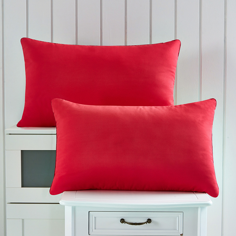 Us 38 3 16 Off Wedding Red Pillows 2pcs Lot Size 46x72cm Standing Material 100 Microfiber Filling Bed Pillow Color In